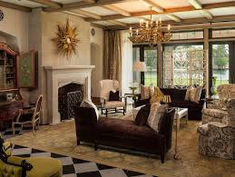 gold and burgundy living room living room traditional with pendant