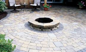 Paver Patio Kits Paver Options For Creating A Circular Patio The Home Depot