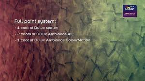 dulux ambiance colourmotion demo video youtube