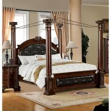 poster bed canopy edmore upholstered canopy bed jpg