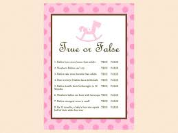 horse baby shower invitations true or false baby shower games baby trivia baby facts