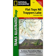 Colorado Gmu Map by 122 Flat Tops Ne Trappers Lake Trail Map National Geographic Store
