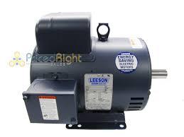 single phase motor ebay hp leeson electric compressor 184t frame