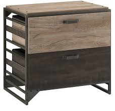 bush somerset lateral file cabinet refinery rustic gray lateral file cabinet from bush furniture