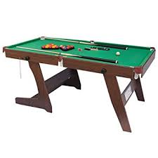 4ft pool table folding shiny trading 6ft folding snooker table pool table green amazon co
