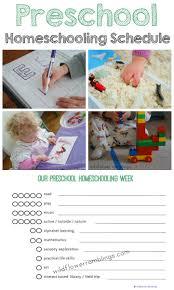 preschool homeschooling schedule free printable wildflower