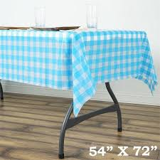 plastic table covers for weddings balsacircle 54x72 checkered disposable plastic table cover wedding