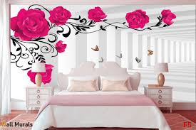 murals 3d model pink roses in tunnel wall murals 3d model pink roses in tunnel