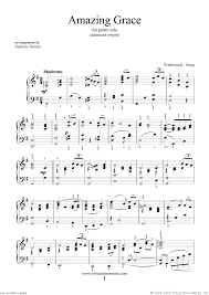 amazing grace advanced version sheet for piano