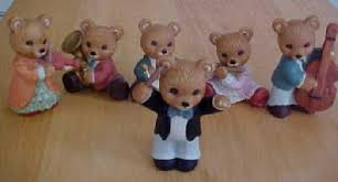 home interior bears d j antiques homco home interior figurines strike up the bears