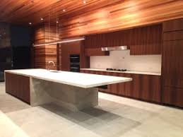 modern cabinets made with walnut wood in los angeles