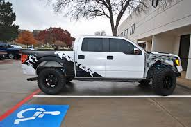 Ford Raptor Mud Truck - custom raptor mud splash decal tailgate hood wrap car wrap city