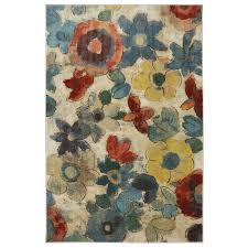 Lowes Round Rugs Sale Shop Mohawk Home Wildflower Cream Multicolor Rectangular Indoor