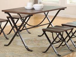 Folding Dining Table And Chairs Ash 5 Piece Folding Dining Set Bailey U0027s Furniture