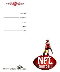 printable football invitations templates