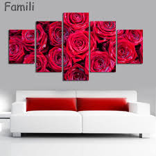 popular red rose wall decor painting bedroom buy cheap red rose