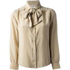 vintage blouse vintage bow blouse céline polyvore