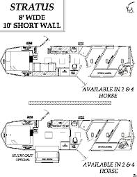 horse trailer living quarter floor plans de i ye