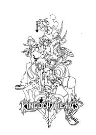 printable kingdom hearts coloring pages glum