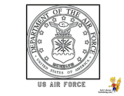 coloring pages of military emblems inside air force coloring pages