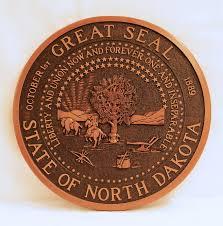 state seal of north dakota wall plaque north dakota heritage