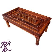 Glass Center Table by Online Crafted Wood Center Table Without Top Glass Rajhandicraft