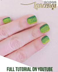 easy nail art for beginners with short nails no tools green and