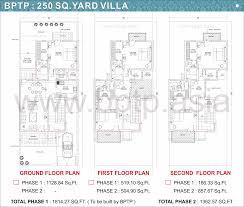 bptp parkland villas faridabad floor plans bptp villa floor maps