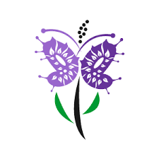 purple flower clipart butterfly flower pencil and in color