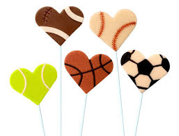 hearts candy sports hearts candy marzipan lollipops football baseball