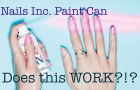 nails inc spray can nail polish first impression review youtube