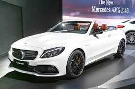 mercedes amg convertible 2017 mercedes amg c63 cabriolet debuts in york motor trend