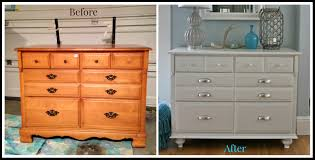 Painted Furniture Ideas Before And After Traditional Maple Dresser Makeover Tutorial On Adding Feet To A