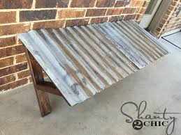 How To Build A Wooden Awning Diy Corrugated Metal Awning Shanty 2 Chic