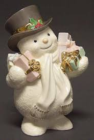 lenox ivory snowman collection at replacements ltd