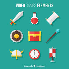 design games to download pack of video game elements in flat design vector free download