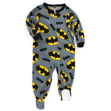 batman toddler boys sleeper pajamas