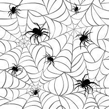 spiders on webs pattern repeats seamlessly royalty free cliparts