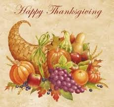 happy thanksgiving cornucopia thanksgiving blessings