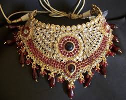 indian bridal necklace sets images Bridal set 975 polki indian bridal ethnic jewelry necklace set JPG