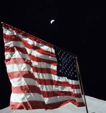 The Amarican Flag Crescent Earth And The U S Flag Nasa