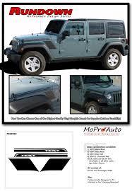 offroad jeep graphics 2008 2017 jeep wrangler rundown stripe decals graphic 3m pro