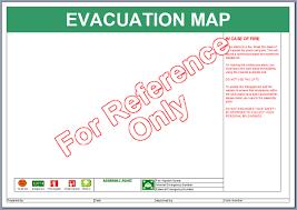 evacuation map template