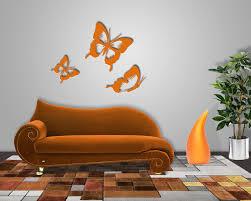 Wohnzimmer Orange Schmetterlinge Wanddeko Für Moderne Baby U0026 Kinderzimmer