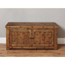 Solid Oak Furniture Heyford Rough Sawn Solid Oak Furniture Shoe Storage Cabinet