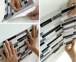 Removable Kitchen Backsplash Interior Self Adhesive Wall Tiles For Transform Your Interior