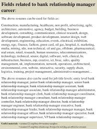 Resume For Bank Job by Top 8 Bank Relationship Manager Resume Samples