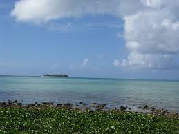 麦克 密克罗 海滩远望军舰岛managaha island view from micro beach
