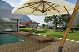 Wood Patio Umbrellas by Offset Patio Umbrella Commercial Aluminum Wood Palladio