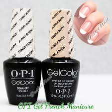 opi gelcolor gel french manicure kit b set gc h22 funny bunny gc
